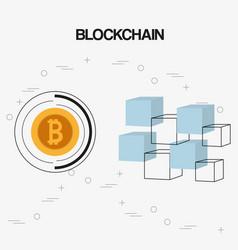 Bitcoin concept design vector