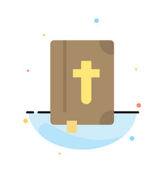 Book bible easter holiday abstract flat color vector