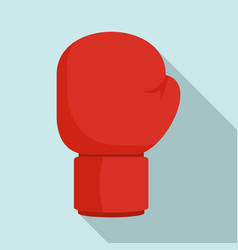boxing red glove icon flat style vector image