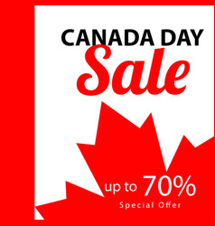 Canada day sale up to 70 template design vector