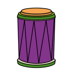 Carnival bongo instrument icon vector