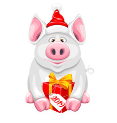 cartoon piggy vector image