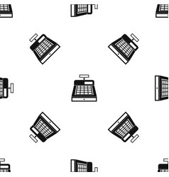 cash register pattern seamless black vector image