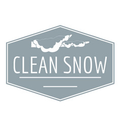 Clean snow logo simple gray style vector
