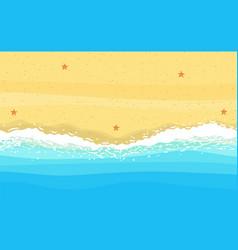 Coast sea ocean with sand vector