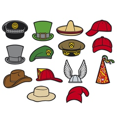 Collection hats vector