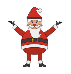color image cartoon full body fat santa claus vector image