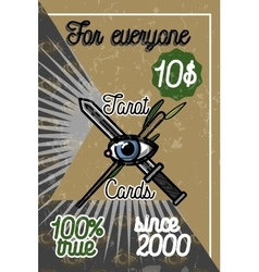 Color vintage tarot cards banner vector