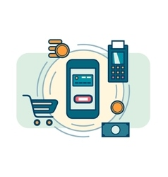 Contactless mobile payment vector