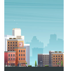 Downtown isolated on background vector