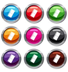 eraser set 9 collection vector image