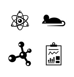 Experiment simple related icons vector