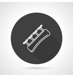 Finger expander black round icon vector