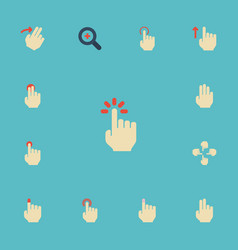 Flat icons two sensory touch and other vector