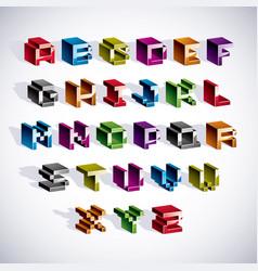 font typescript created in 8 bit style pixel art vector image