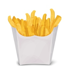 French fries isolated vector