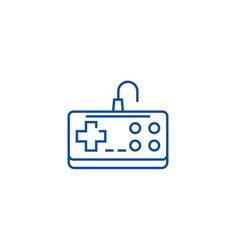 gamepad line icon concept gamepad flat vector image