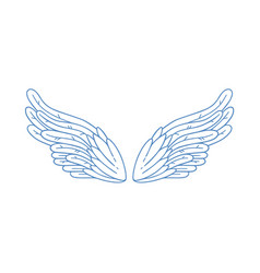 Gorgeous minimalistic angel wings vector