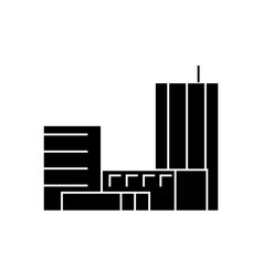 goverment building black icon concept goverment vector image