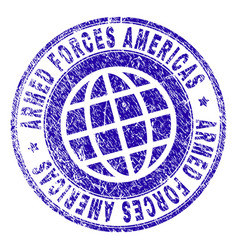 Grunge textured armed forces americas stamp seal vector