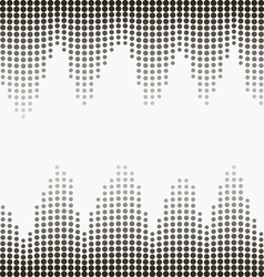 Halftone gray dots vector image