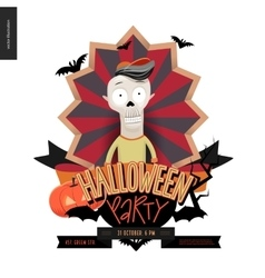 Halloween Party composed sign vector image