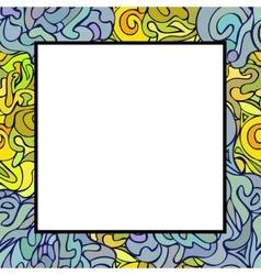 Hand drawn doodle art frame vector image