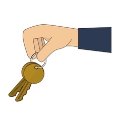 hand key fingers icon graphic vector image