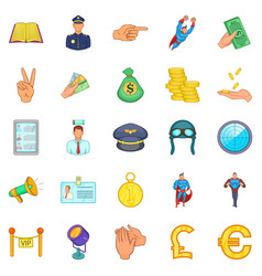 Handling icons set cartoon style vector