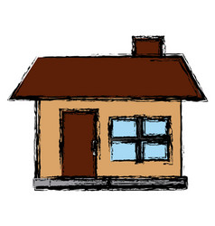 house facade small chimney architecture icon vector image vector image