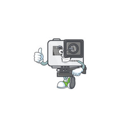 Icon action camera making thumbs up gesture vector
