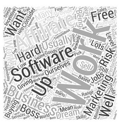 Is It Worth Buying Affiliate Software Word Cloud vector