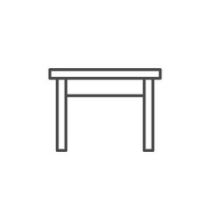 kitchen table line icon vector image