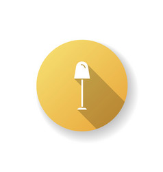 Lamp yellow flat design long shadow glyph icon vector