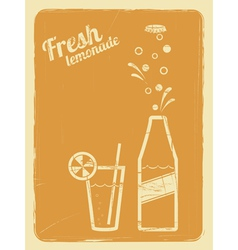 Lemonade retro poster orange vector