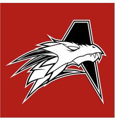 letter a dragon logo vector image