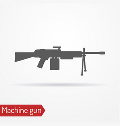 Machine gun silhouette icon vector