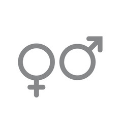 male and female icon gender and sexual vector image