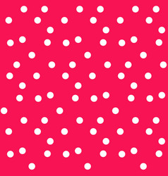 modern red polka background seamless pattern vector image