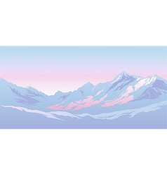 Mountains in the morning vector