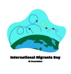 Move plane fight migrant international migrants vector