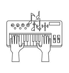 music keyboard isolated vector image