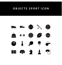 object sport glyph style icon set vector image