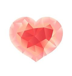 Pastel Pink Origami Heart vector