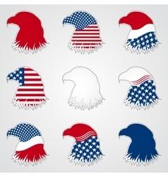Patriotic American Symbol for Holiday Eagle vector image