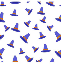 pilgrim hat flat seamless pattern on white vector image