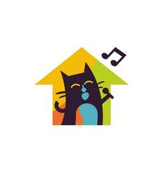 property music logo icon design vector image