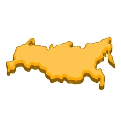 Russia map icon cartoon style vector