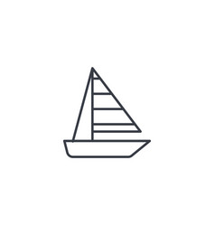 sailing ship thin line icon linear symbol vector image
