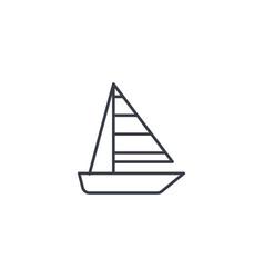 Sailing ship thin line icon linear symbol vector